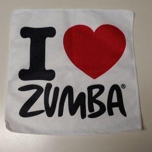 """Zumba Fitness """"I love Zumba"""" Hand towel NWOT"""